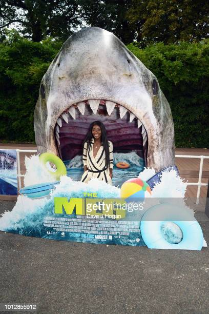 Odudu attends a special screening of 'The Meg' at Brockwell Lido on August 7 2018 in London England