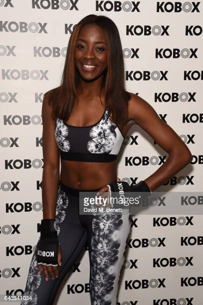 Odudu attends as KOBOX Trainer Antoine Dunn and sister Jourdan Dunn kick of the KOBOX city studio with a boxing workout on February 21 2017 in London...