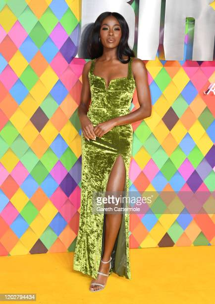 Odudu attends the Birds of Prey And the Fantabulous Emancipation Of One Harley Quinn World Premiere at the BFI IMAX on January 29 2020 in London...