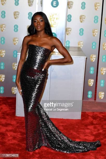 Odudu attends the EE British Academy Film Awards at Royal Albert Hall on February 10 2019 in London England