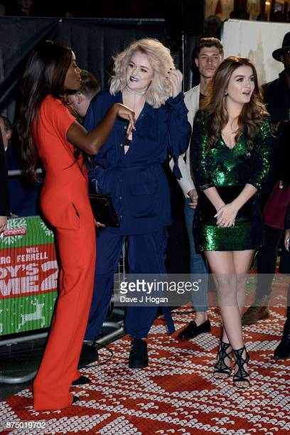 AJ Odudu Grace Davies and Holly Tandy arrive at the UK Premiere of 'Daddy's Home 2' at Vue West End on November 16 2017 in London England