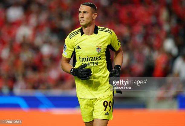 Odysseas Vlachodimos of SL Benfica during the Group E - UEFA Champions League match between SL Benfica and Bayern Munchen at Estadio da Luz on...