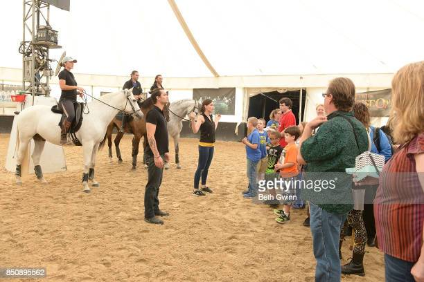 Odysseo by Cavalia invited Children from the TN School for the Blind to experience the horses Carson Umphery looks on as the groomers show the horses...