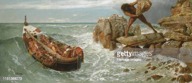 Odysseus and Polyphemus 1896 From a private collection Artist Böcklin Arnold
