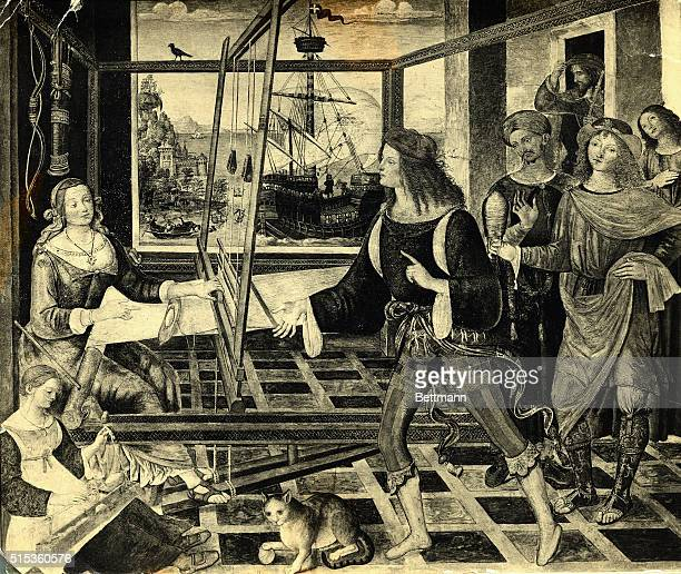 Odysseus returns and finds Penelope at her loom