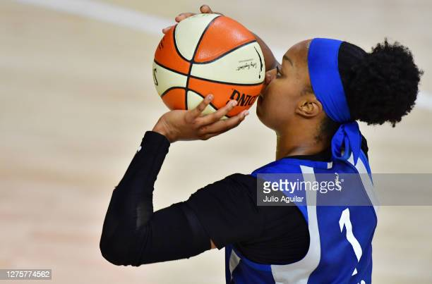 Odyssey Sims of the Minnesota Lynx shoots the ball during the second half of Game One of their Third Round playoff against the Seattle Storm at Feld...