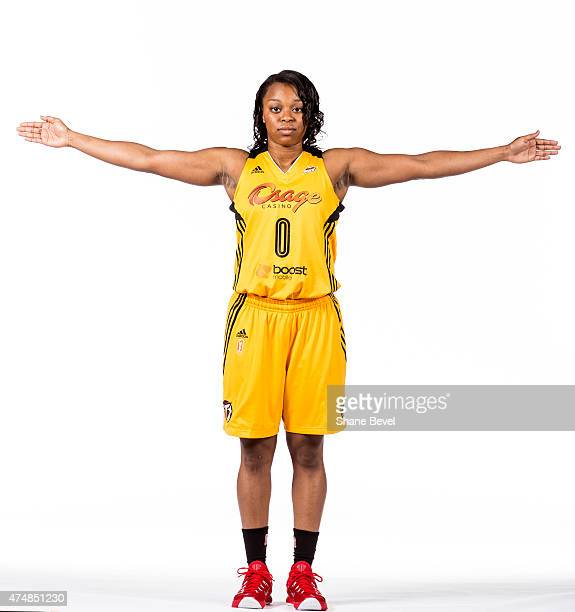 Odyssey Sims of the Tulsa Shock poses for portraits during Media Day on May 26 2015 at the BOK Center in Tulsa Oklahoma NOTE TO USER User expressly...