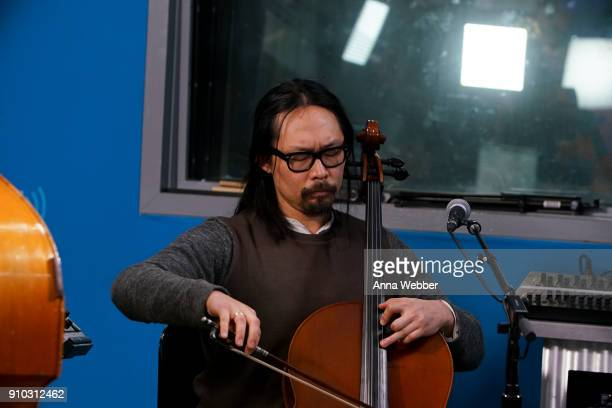 oe Kwon performs during SiriusXM Town Hall With Judd Apatow Michael Bonfiglio The Avett Brothers Hosted By Kurt Loder at SiriusXM Studios on January...