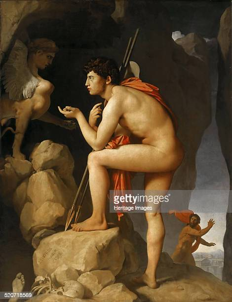 Oedipus and the Sphinx. Found in the collection of Louvre, Paris.
