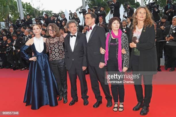"Oeil d'Or Jury members Lolita Chammah,Isabelle Danel,Emmanuel Finkiel,Paul Sturz,Kim Longinotto and a guest attend the screening of ""BlacKkKlansman""..."
