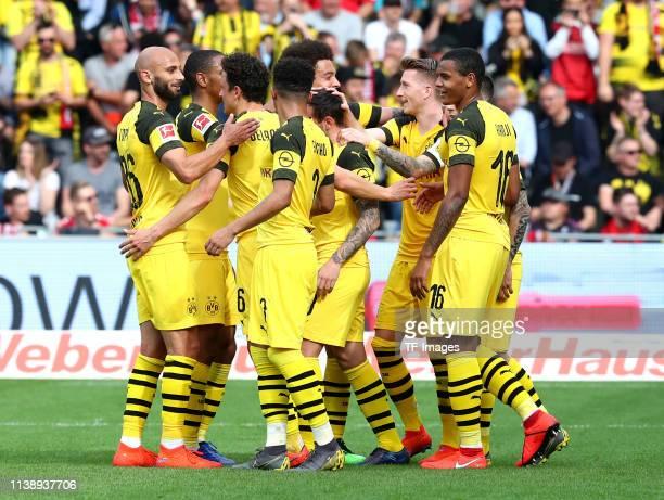 Oemer Toprak of Borussia Dortmund Abdou Diallo of Borussia Dortmund Thomas Delaney of Borussia Dortmund Jadon Malik Sancho of Borussia Dortmund Axel...