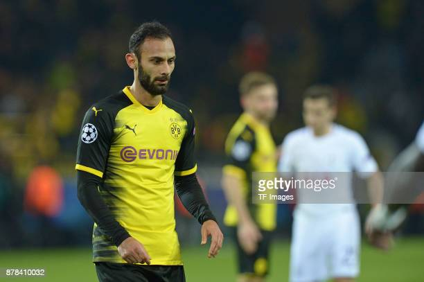 Oemer Toprak of Borussia Dortmund looks on during the UEFA Champions League group H match between Borussia Dortmund and Tottenham Hotspur at Signal...