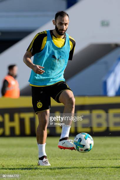 Oemer Toprak of Dortmund controls the ball during the Borussia Dortmund training camp at Marbella Football Center on January 05 2018 in Marbella Spain