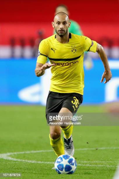 Oemer Toprak of Dortmund runs with the ball during the UEFA Champions League Group A match between AS Monaco and Borussia Dortmund at Stade Louis II...