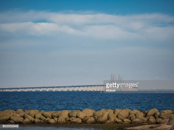 oeresund bridge - oresund region stock photos and pictures