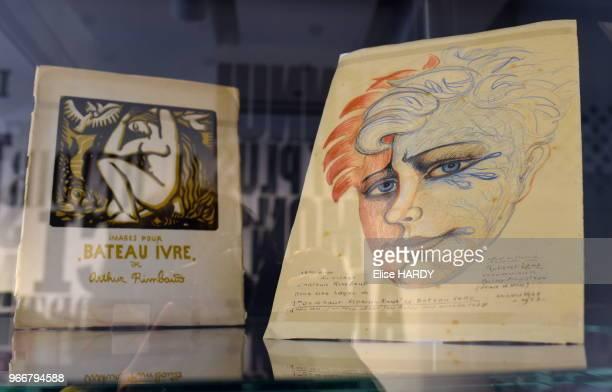 Oeuvres du poète Arthur Rimbaud dans le Musée Rimbaud 22 septembre 2015 CharlevilleMézières Ardennes France