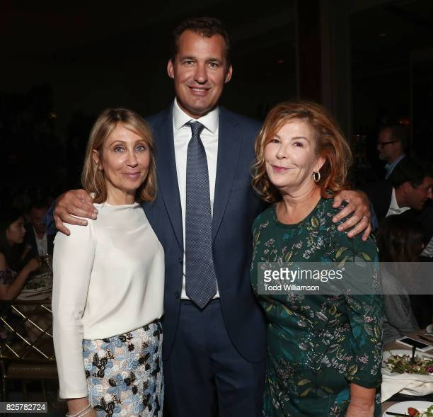 CEO of 20th Century Fox Stacey Snider Scott Stuber and CBS Films President Terry Press attend the Hollywood Foreign Press Association's Grants...
