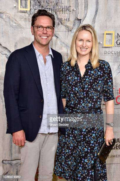 CEO of 21st Century Fox James Murdoch and Kathryn Hufschmid attend the New York City premiere of National Geographic Documentary Films' Free Solo at...