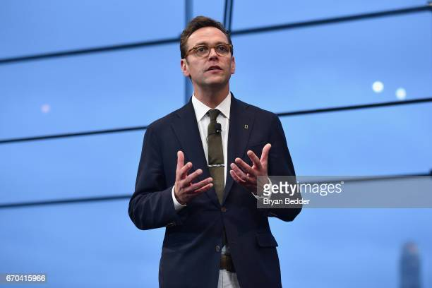 Of 21st Century Fox James Murdoch speaks at National Geographic's Further Front Event at Jazz at Lincoln Center on April 19, 2017 in New York City.