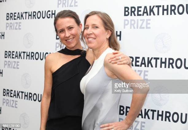 CEO of 23andMe Anne Wojcicki and YouTube CEO Susan Wojcicki attend the 2018 Breakthrough Prize at NASA Ames Research Center on December 3 2017 in...