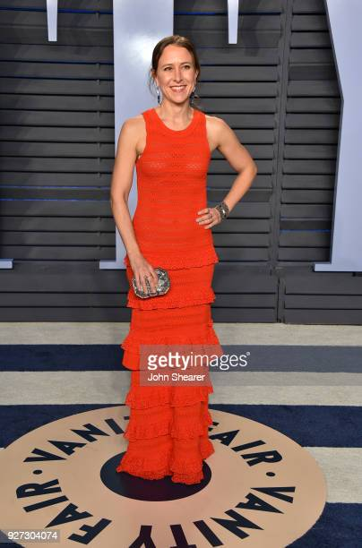CEO of 23andMe Anne Wojcicki attends the 2018 Vanity Fair Oscar Party hosted by Radhika Jones at Wallis Annenberg Center for the Performing Arts on...