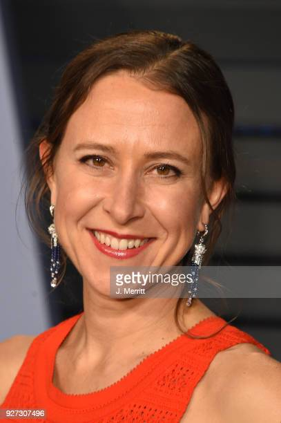 CEO of 23andMe Anne Wojcicki attends the 2018 Vanity Fair Oscar Party hosted by Radhika Jones at the Wallis Annenberg Center for the Performing Arts...