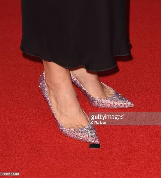 CEO of 23andMe Anne Wojcicki shoe detail attends the 2018 Breakthrough Prize at NASA Ames Research Center on December 3 2017 in Mountain View...