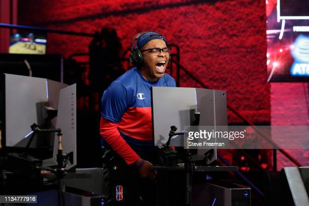 ZDS of 76ers Gaming Club looks on against Heat Check Gaming during Day Two of the NBA 2K League Tip Off Tournament on April 3 2019 at the NBA 2K...