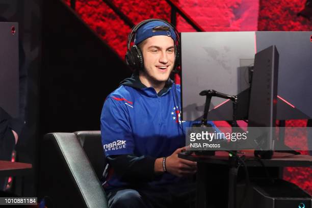 T of 76ers Gaming Club plays against Pistons Gaming Team on August 4 2018 at the NBA 2K Studio in Long Island City New York NOTE TO USER User...