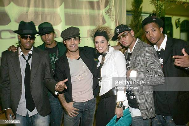 4 of a Kind with Antonio Rufino and Melanie Milia during Bodacious Magazine Premiere Issue Launch Party October 12 2005 at Les Voyous Restaurant in...