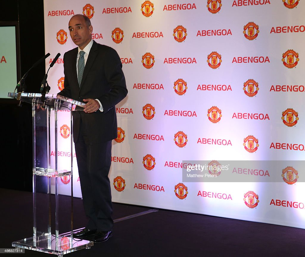 Manchester United Launch Their New Partnership with Abengoa : News Photo