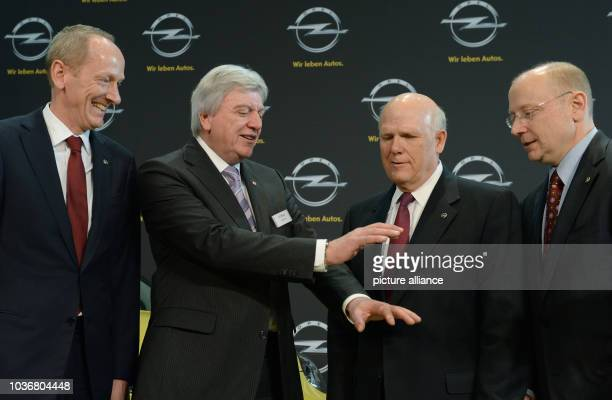 CEO of Adam Opel AG KarlThomas Neumann Premier of Hesse Volker Bouffier CEO of General Motors Dan Akerson and chairman of the supervisory board of...
