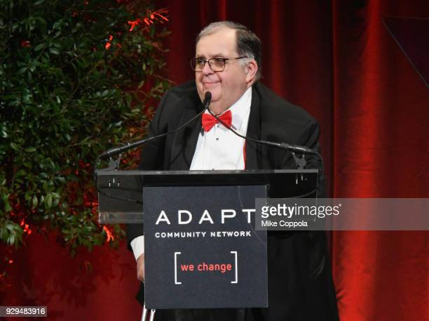 CEO of ADAPT Community Network Edward R Matthews speaks during the Adapt Leadership Awards Gala 2018 at Cipriani 42nd Street on March 8 2018 in New...