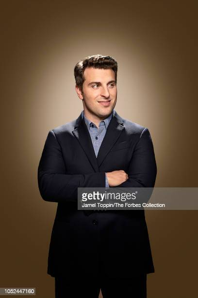 CEO of Airbnb Brian Chesky is photographed for Forbes Magazine on June 17 2018 at company's headquarters in San Francisco California COVER IMAGE...