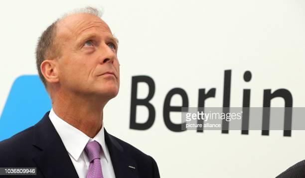 CEO of Airbus Tom Enders answers questions from journalists following a press conference at the Berlin Air Show in Schoenefeld Germany 01 June 2016...