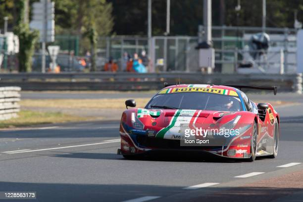 Of Alessandro PIER GUIDI , James CALADO , Daniel SERRA during Motor Racing - 24 Hours of Le Mans on September 17, 2020 in Le Mans, France.