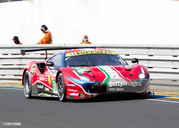 Of Alessandro PIER GUIDI , James CALADO , Daniel SERRA during Motor Racing - 24 Hours of Le Mans on September 18, 2020 in Le Mans, France.