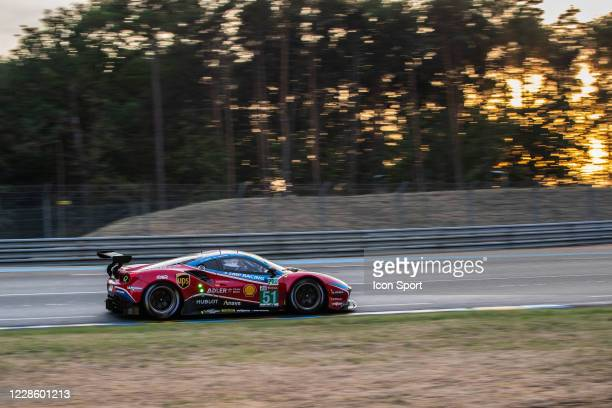 Of Alessandro PIER GUIDI , James CALADO , Daniel SERRA during Motor Racing - 24 Hours of Le Mans on September 19, 2020 in Le Mans, France.