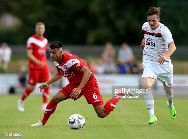 of Alfredo Morales Duesseldorf runs with the ball during the Pre Season Friendly match between FC WegbergBeeck and Fortuna Duesseldorf at Waldstadion...