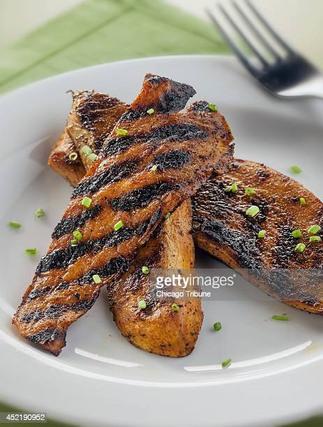 Of all the foods we grill on perfect summer days vegetables rank among the most exciting Featured here spicy grilled sweet potato is served up