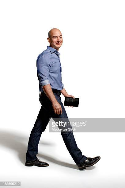 CEO of Amazon Jeff Bezos is photographed for Bloomberg Businessweek on September 26 2011 in New York City