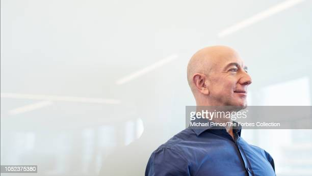 Of Amazon, Jeff Bezos is photographed for Forbes Magazine on July 31, 2018 at his Seattle headquarters in Seattle, Washington. PUBLISHED IMAGE....