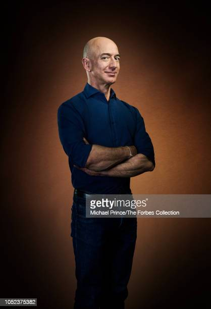 CEO of Amazon Jeff Bezos is photographed for Forbes Magazine on July 31 2018 at his Seattle headquarters in Seattle Washington COVER IMAGE CREDIT...