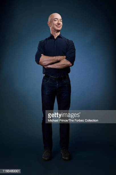 Of Amazon, Jeff Bezos is photographed for Forbes Magazine on July 31, 2018 at his Seattle headquarters in Seattle, Washington. CREDIT MUST READ:...
