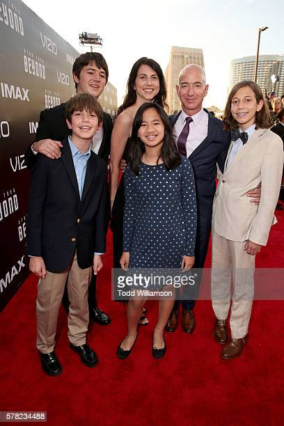 CEO of Amazoncom Jeff Bezos and family attend the premiere of Paramount Pictures' Star Trek Beyond at Embarcadero Marina Park South on July 20 2016...