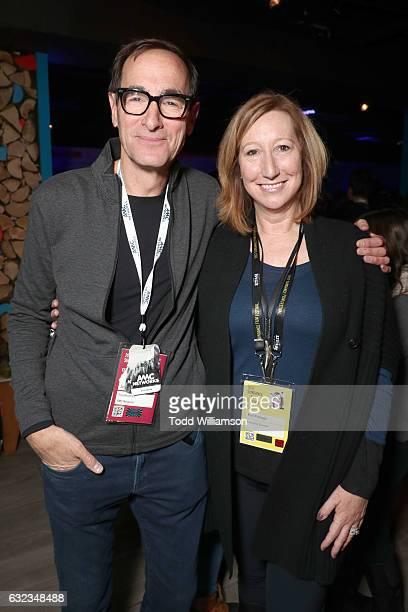 Of AMC Networks Josh Sapan and Sundance Institute Executive Director Keri Putnam attend The Hollywood Reporter And Sundance TV 2017 Sundance Film...