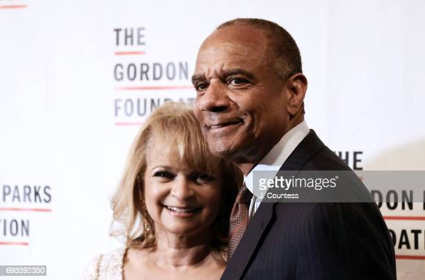 CEO of American Express Kenneth Chenault and Kathryn Chenault attend the 2017 Gordon Parks Foundation Awards Gala at Cipriani 42nd Street on June 6...