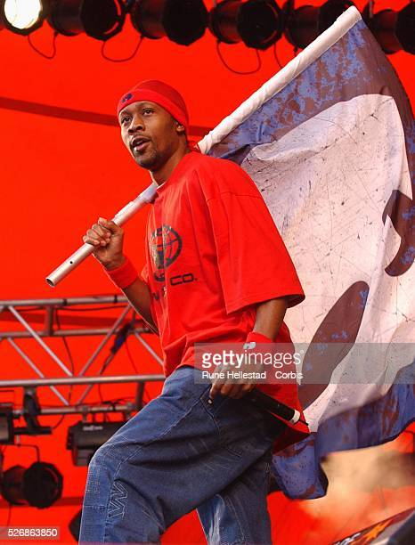 RZA of American rap band The Wu Tang Clan performs on stage at the Roskilde festival in Denmark