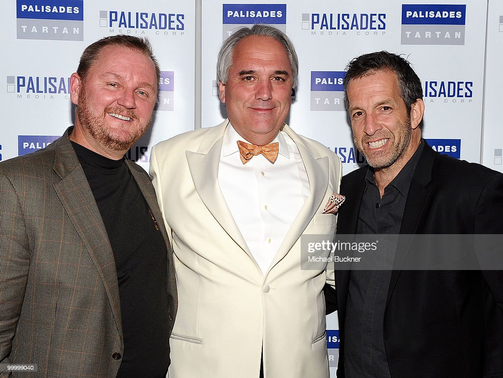 CEO of amFAR Kevin Frost, Chairman of Palisades Pictures Vincent Roberti and designer Kenneth Cole attend the Palisades Media Corp and Vin Roberti Salute Independent Film Party held at the Hotel du Cap during the 63rd Annual International Cannes Film Festival on May 19, 2010 in Cannes, France.