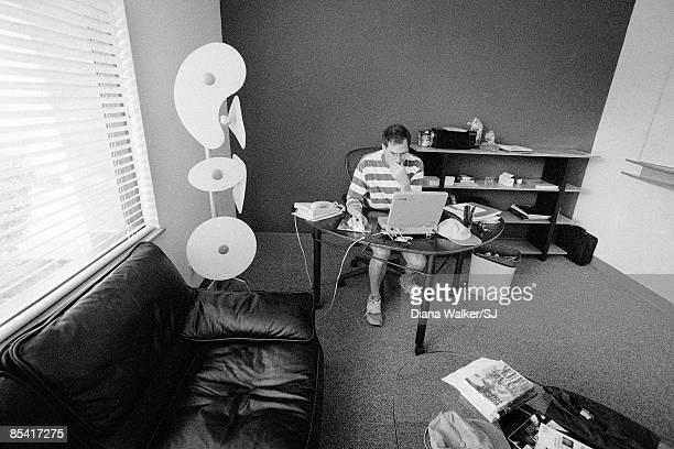 EMERYVILLE CA CEO of Apple Steve Jobs in his office at Pixar in Emeryville California in August 1997